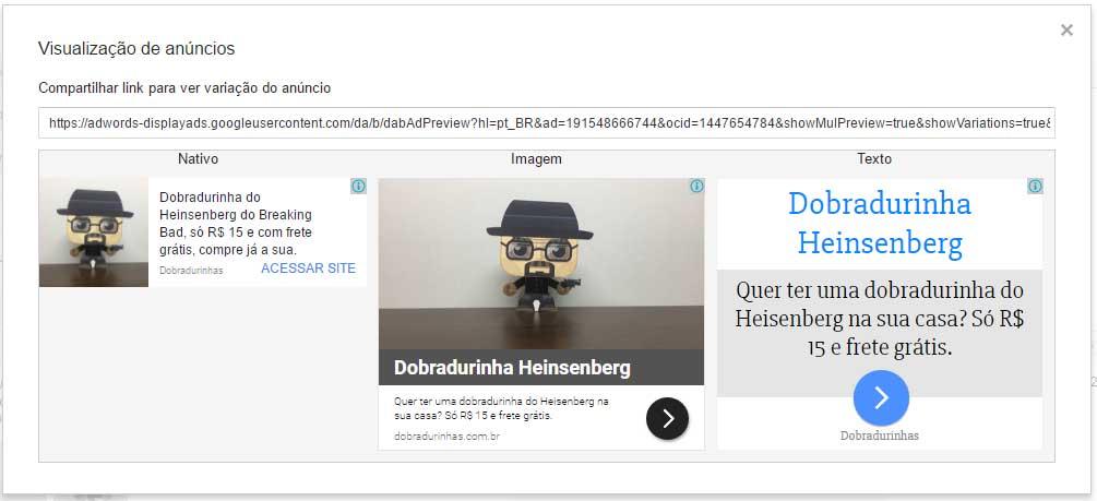 Dobradurinhas - Google AdWords Display Anúncios Responsivos