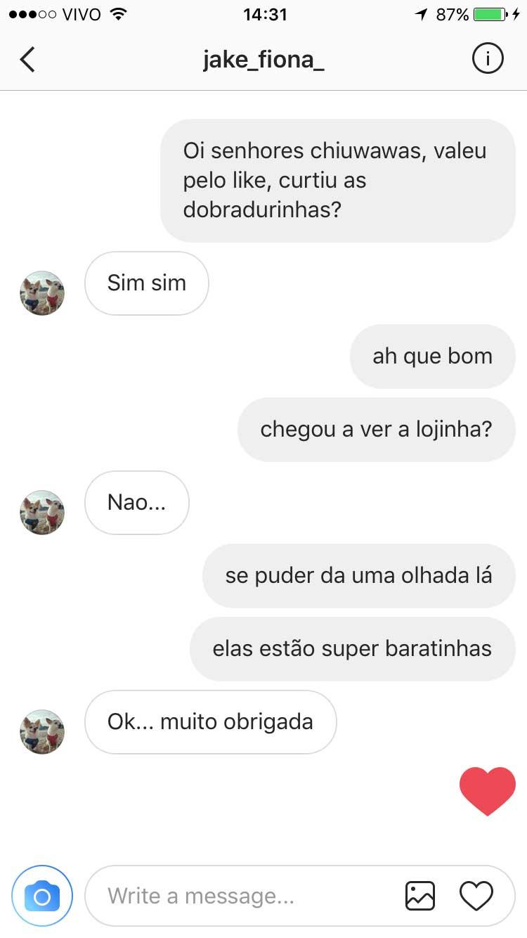 Dobradurinhas - Conversas no Instagram