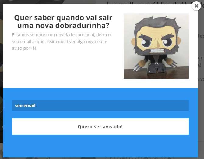 Dobradurinhas - Exit Popup na página de Produto